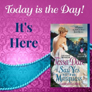 Announcing the release day for SAY YES TO THE MARQUESS