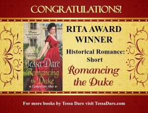Congratulations RITA Award Winner Historical Romance: Short